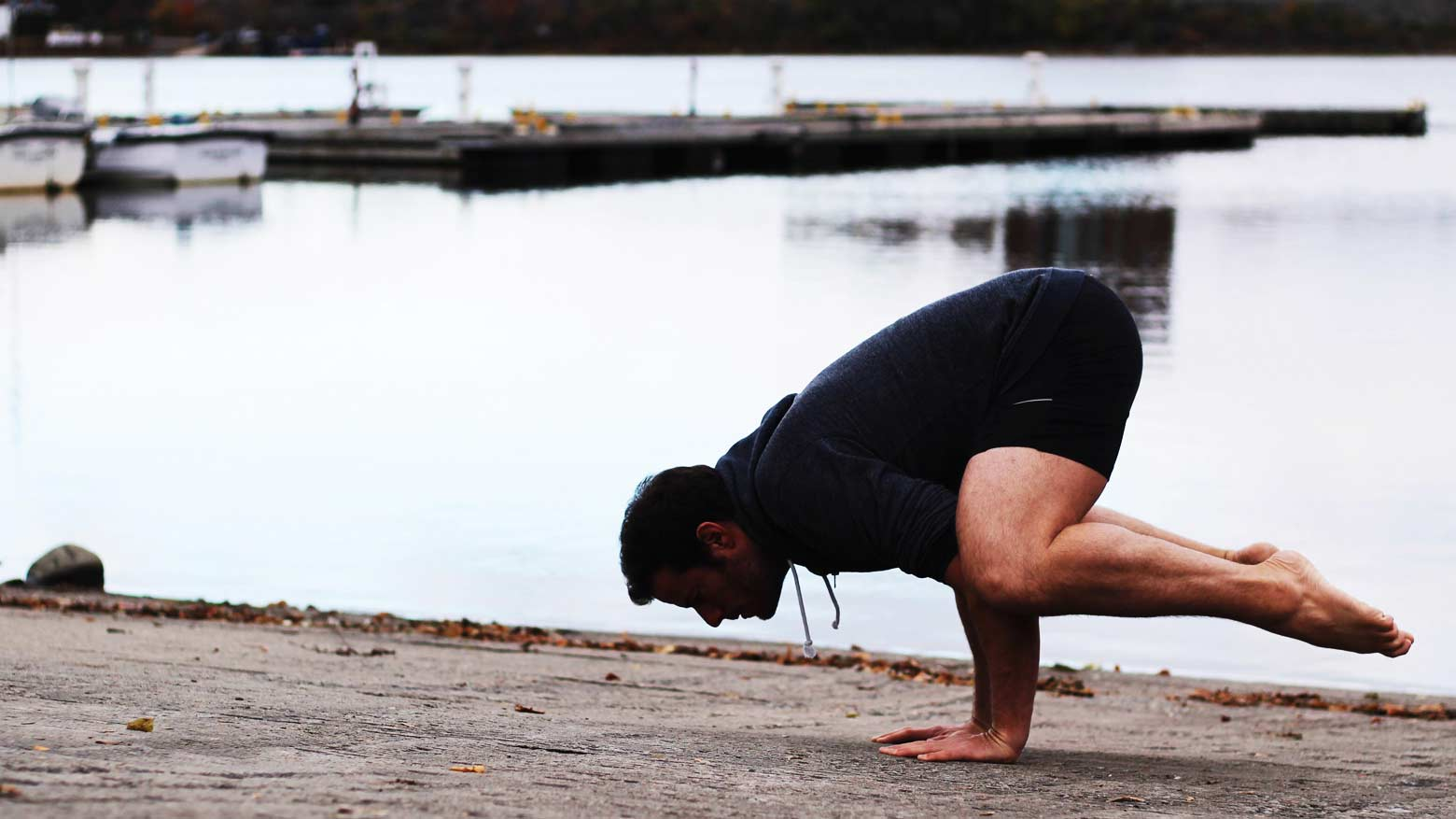Yogi in Crow Pose
