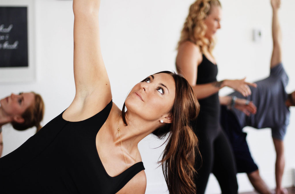 Yogis practicing yoga