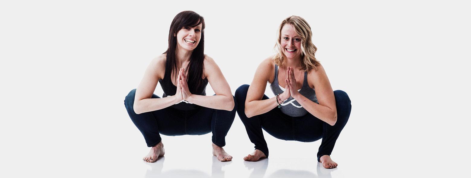 Yogis in goddess pose