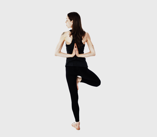 Kelly Trimm in tree pose