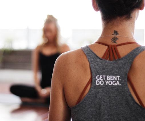 Yogis meditating